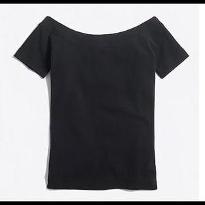 J.Crew Off-The-Shoulder T-Shirt